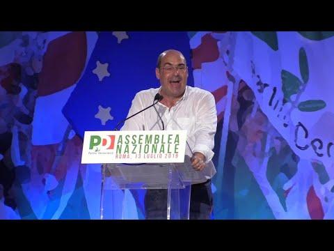 """Pd, Zingaretti: """"Dobbiamo cambiare tutto. Serve una rivoluzione o non ce la facciamo"""""""