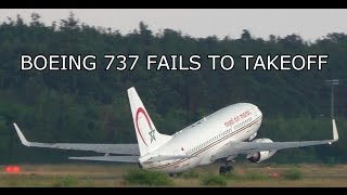 passenger aircraft fails to takeoff boeing 737 near tail strike stall on takeoff