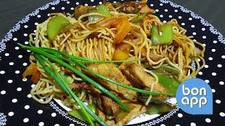 Жареная лапша по китайски (рецепт)