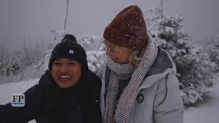Winter kündigt sich an: Schneefall in Oberwiesenthal