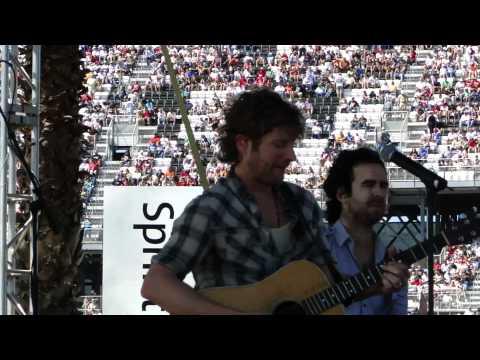 Dierks Bentley - Sideways (NASCAR style) at Daytona 500 - 2011