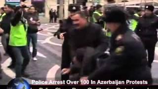 Police Arrest Over 100 In Azerbaijan Protests