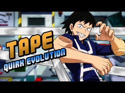 Hanta Sero Cellophane Tape Quirk Evolution My Hero Academia