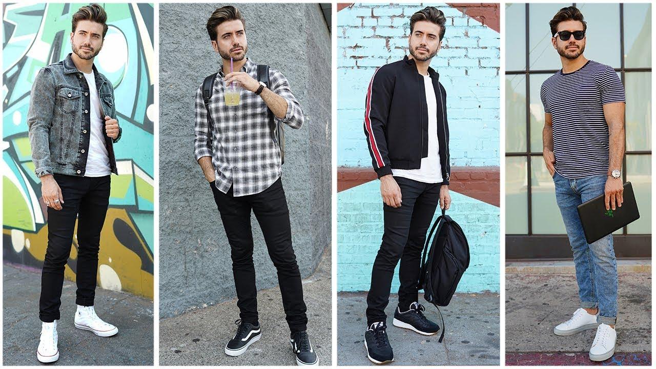 [VIDEO] - 4 Easy Men's Outfits for School | BACK TO SCHOOL Lookbook | Alex Costa 4