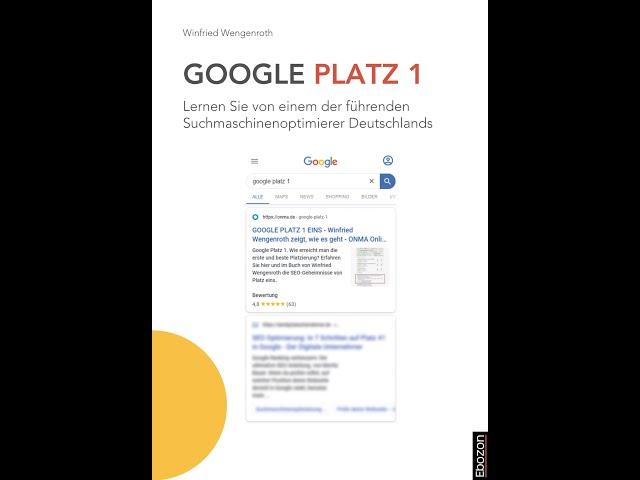 Google Platz 1 eBook & Print von Winfried Wengenroth (Buchtrailer)