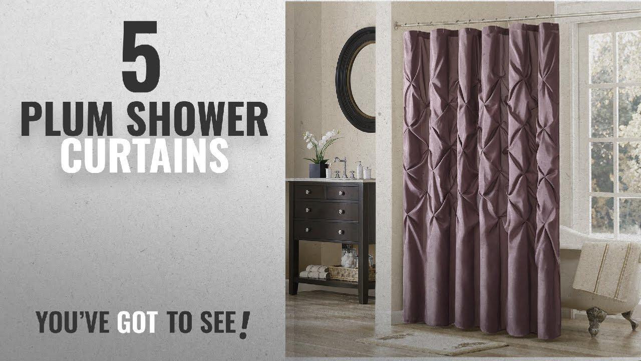 Top 10 Plum Shower Curtains 2018 Madison Park Laurel Satin