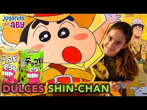 Pruebo MUCHOS DULCES De SHIN-CHAN. Golosinas Y Chuches De Mis Dibujos Favoritos