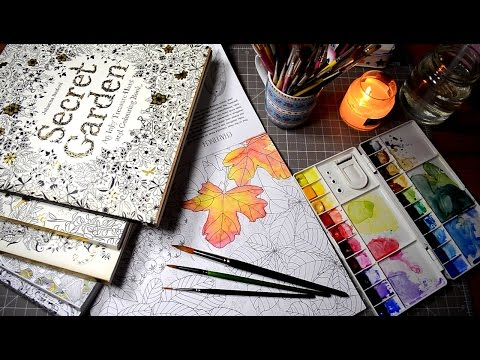 Testing Watercolors in Coloring Books | Secret Garden | Magical Jungle | Johanna Basford + Others