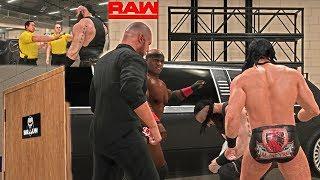 WWE 2K19 Injured Braun Strowman looks for Retribution vs Corbin, Lashley & McIntyre -RAW 2018 Custom