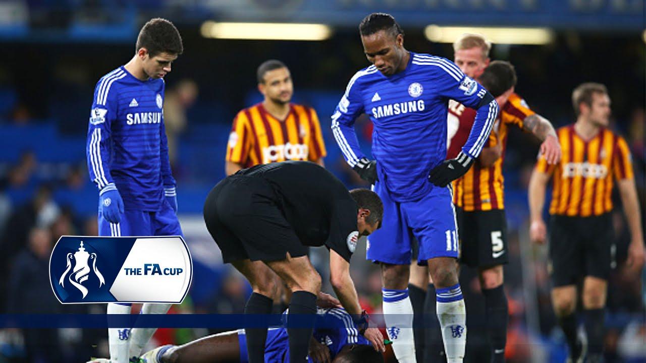 Chelsea 2 4 Bradford City Fa Cup Fourth Round Goals