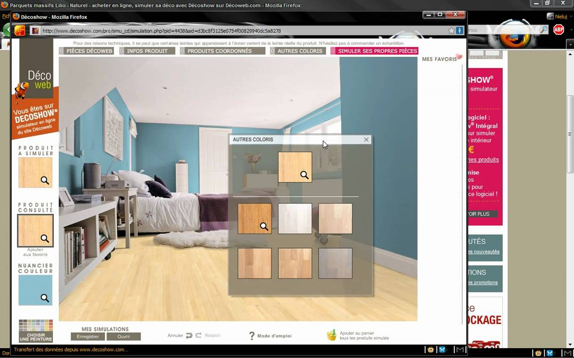 test du logiciel de simulation de d coration int rieure youtube. Black Bedroom Furniture Sets. Home Design Ideas