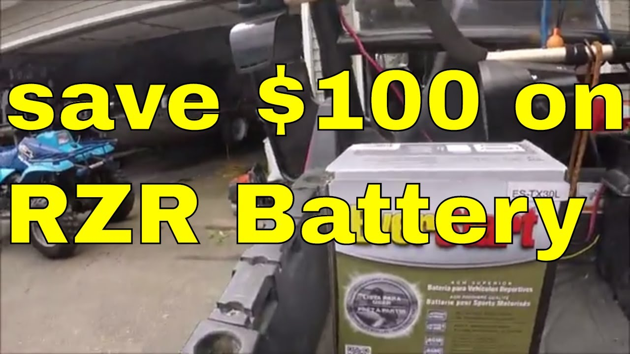 medium resolution of polaris rzr battery installation 100 00 off battery check it out