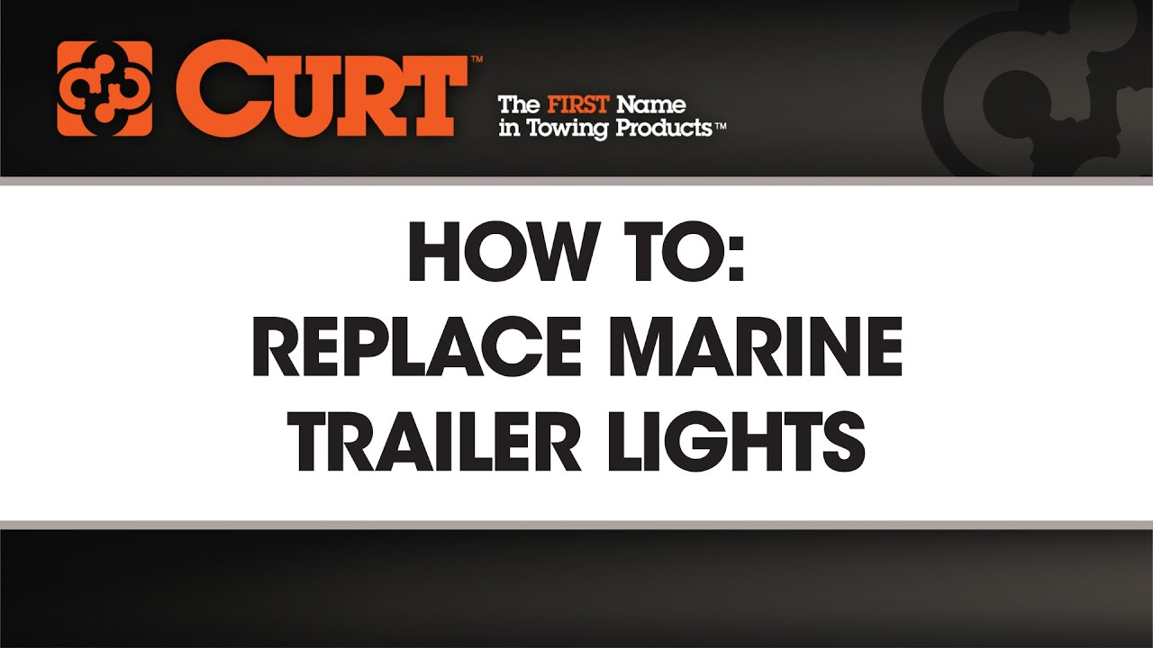 How To Install Submersible Marine Trailer Lights Curtmfg Youtube Wesbar Tail Lamp Wiring Diagram