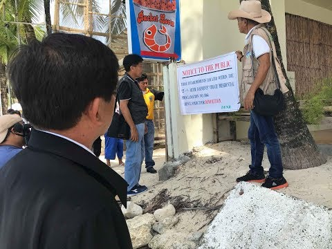 DENR secretary continues his inspections in Boracay