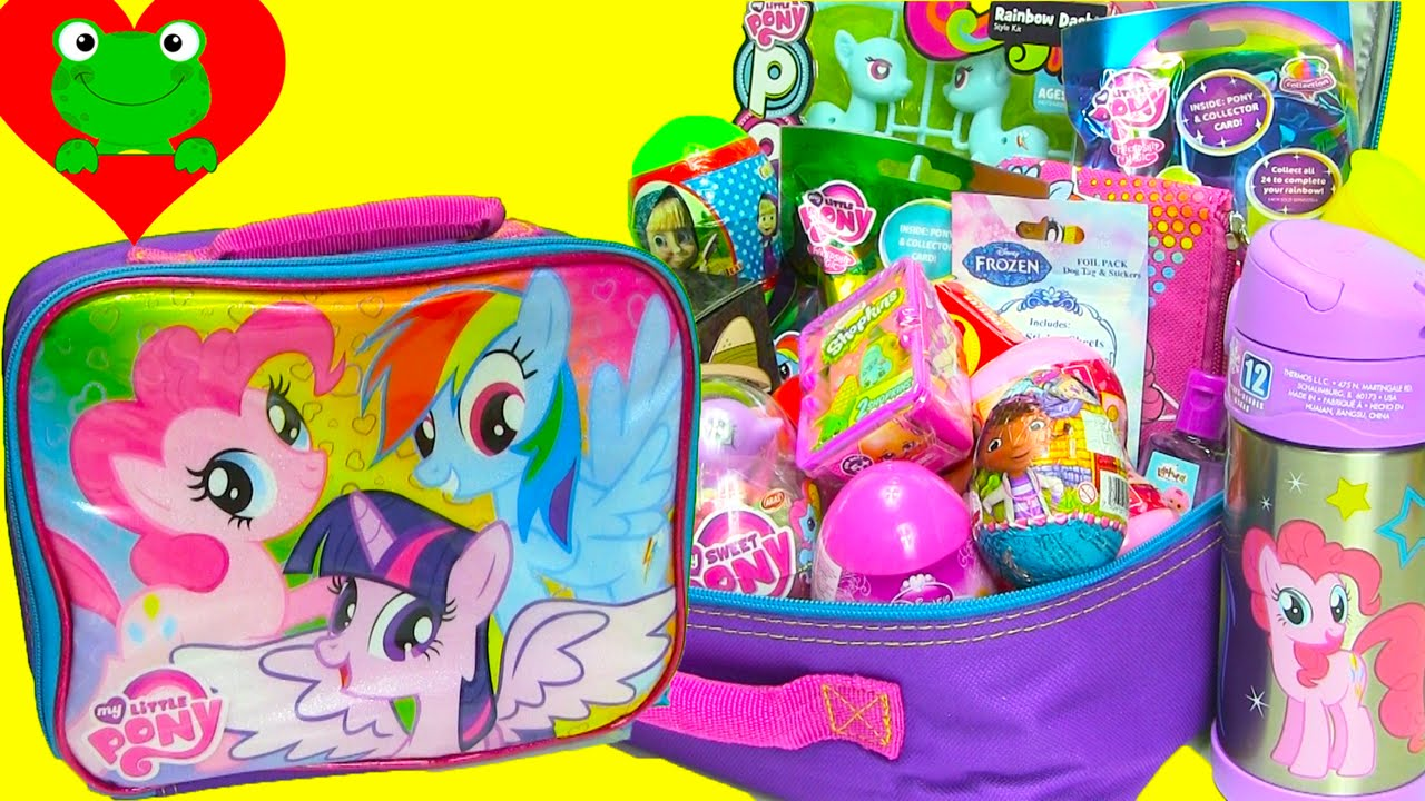 my little pony lunch box surprises with mlp shopkins. Black Bedroom Furniture Sets. Home Design Ideas