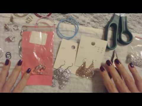 ASMR ~ Converting Pierced Earrings To Clip-On / Hoop Earrings (Soft Spoken)