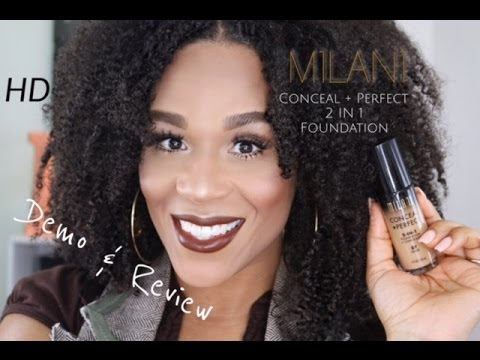 Milani Conceal + Perfect Foundation Demo & Review | Tia Kirby