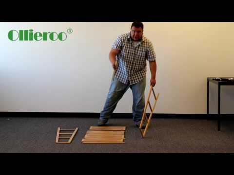 Ollieroo 4 Tier 100% Natural Bamboo Case Multifunctional Storage Rack