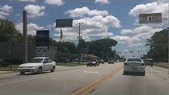 Driving Beach Blvd from University Blvd to Southside Blvd. Jacksonville Fl Florida.