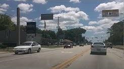 Driving Beach Blvd from University Blvd to Southside Blvd. Jacksonville Fl Florida.