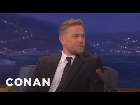 Charlie Hunnam Is A Germaphobe Who Hates Kissing Scenes- CONAN on TBS