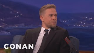 Charlie Hunnam Is A Germaphobe Who Hates Kissing Scenes  - CONAN on TBS