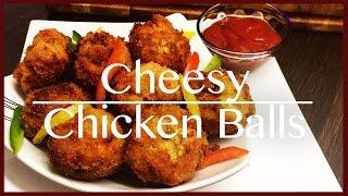 How to make Cheesy Chicken Balls  Easy Chicken Balls Recipe - Delizioso