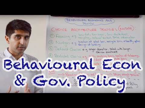 Behavioural Economics and Government Policy (Nudge Policies)