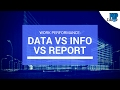Work Performance Data vs Work Performance Information vs Work Performance Report