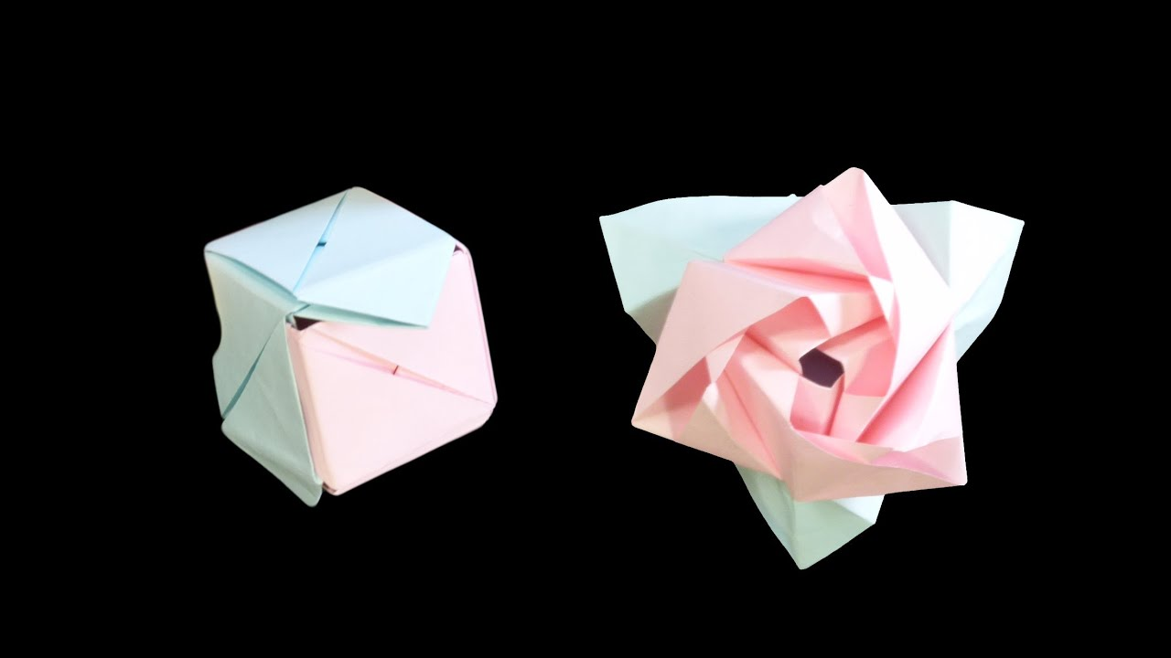 valentines day special how to make origami paper rose