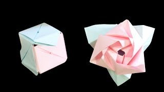 Valentine's Day Special - How to Make Origami Paper Rose Boxes