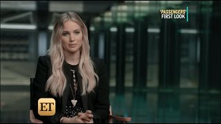 Jennifer Lawrence, Chris Pratt and Michael Sheen for Entertainment Tonight   Passengers (11-23-2016)