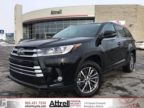 2017 Toyota Highlander Awd Xle Brampton On Attrell