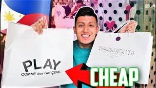 SECRET Philippines HYPEBEAST Store and CHEAP Designer Shopping! (Manila Vlog)