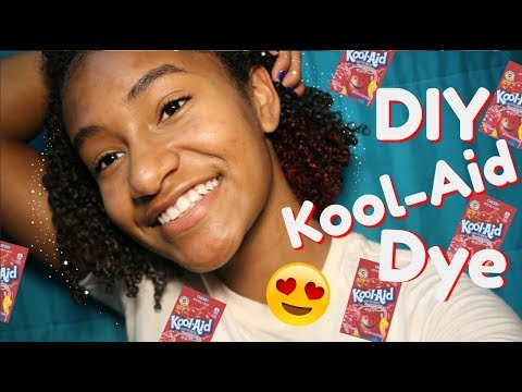 DIY Dye Your DARK Hair with KOOLAID the EASY WAY
