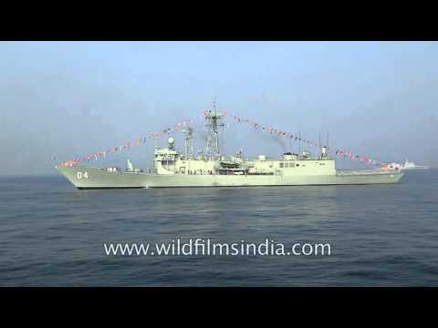 CNS admiral R K Dhowan on board INS Sumitra