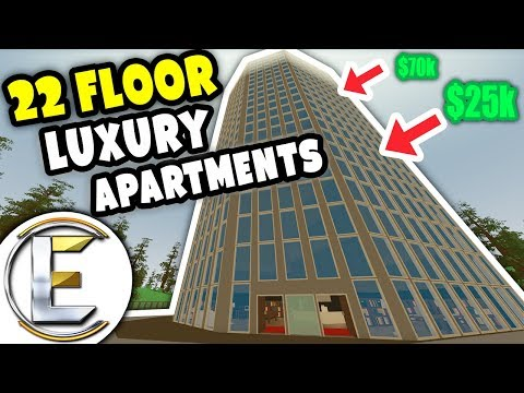 22 Floor Luxury Apartments | Unturned Roleplay - Selling off penthouse on the top floor 70k