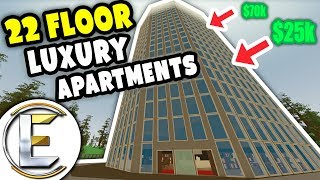 Video 22 Floor Luxury Apartments | Unturned Roleplay - Selling off penthouse on the top floor 70k download MP3, 3GP, MP4, WEBM, AVI, FLV Maret 2018
