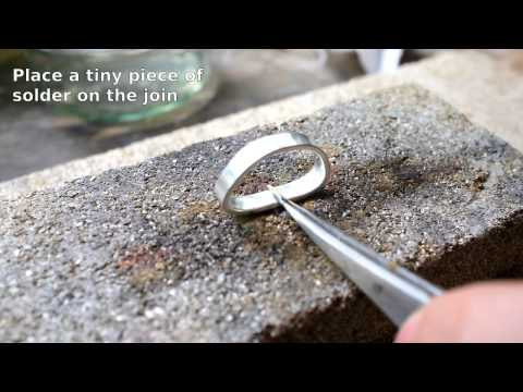 How to solder a simple silver ring