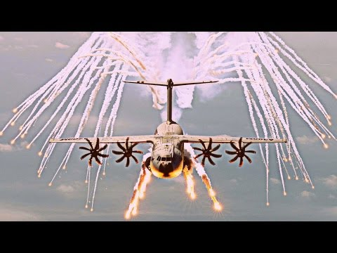 "Airbus Military A400M ""Grizzly / Atlas"" - 2017 Defensive Flares Testing [HD 1080p]"