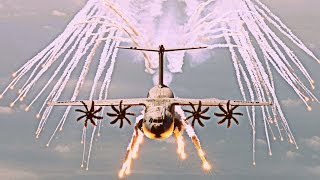 "Airbus Military A400M ""Grizzly / Atlas"" - 2014 Impressive Defensive Flares Testing [HD 1080p]"