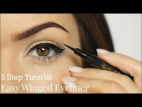 5 Easy Steps To Winged Eyeliner Tutorial
