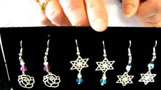 Jewish Jewelry: Sterling Silver Lazer Lace Earrings