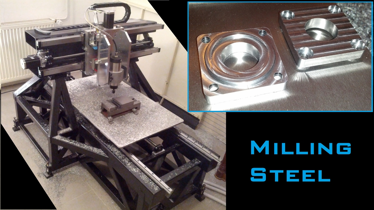 Cutting Steel With 1 5kw Spindle On Homemade Cnc Machine