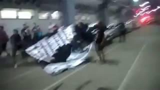 Detik detik BOBOTOH menghadang BUS PERSIB BANDUNG!!