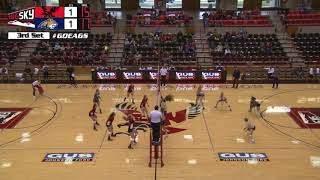 EWU Volleyball Highlights vs. Montana State (Sept. 23 2017).
