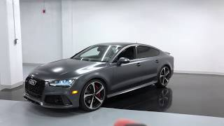 2017 Audi RS7 MATTE DAYTONA GREY - Revs + Walkaround in 4k