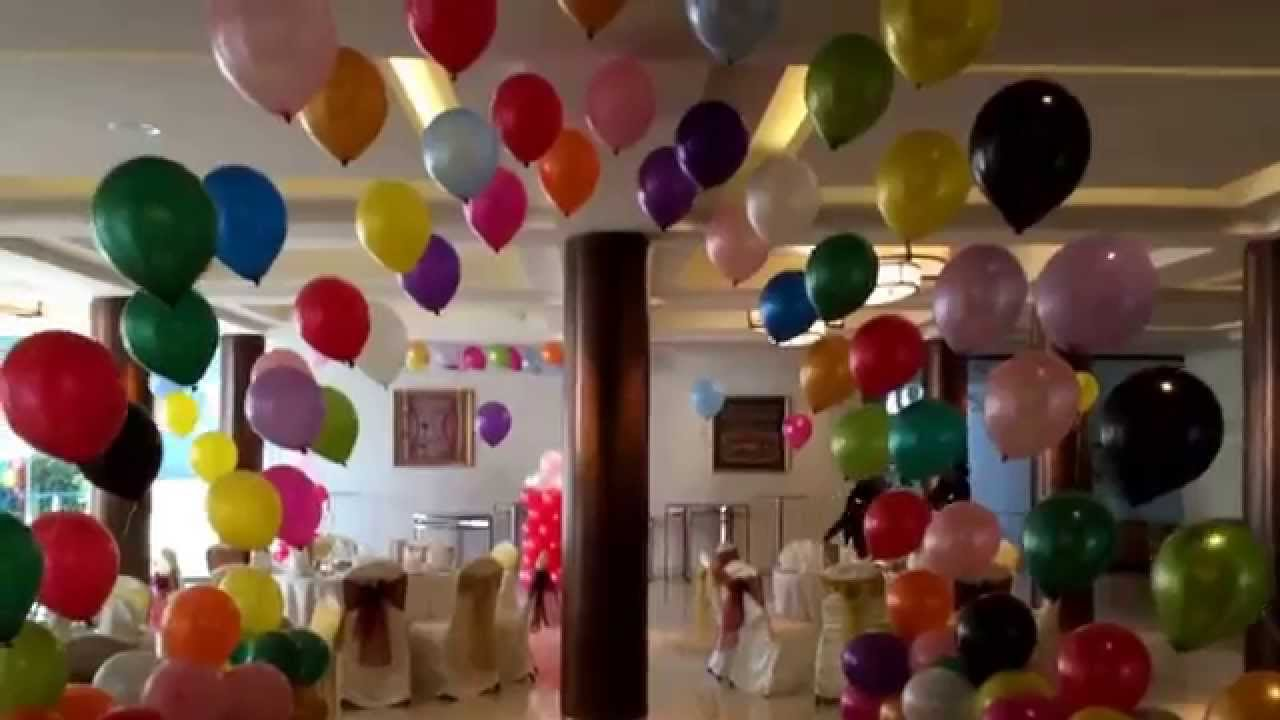 Balloon decoration helium balloon gas balloon drop balloon for Balloon decoration ideas youtube