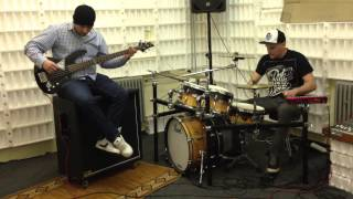Download Bullet For My Valentine - Hearts Burst Into Fire acoustic (drum and bass cover) MP3 song and Music Video
