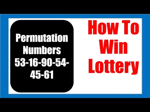 How To Win Lottery With 53 16 90 54 45 61